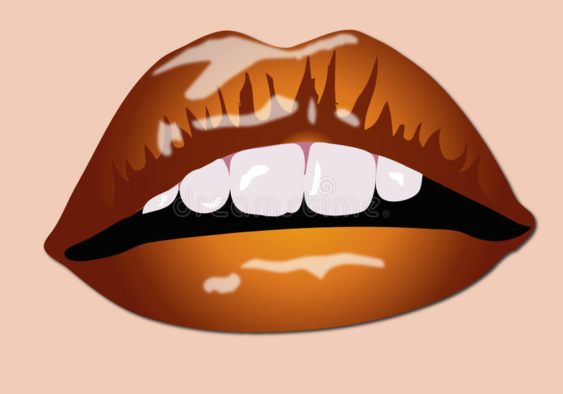 Download Color Lips stock illustration. Illustration of babe, chocolate - 2247995