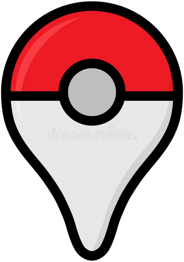 Color logo of Pokemon Go - free-to-play location-based augmented royalty free illustration