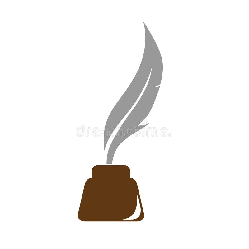 Color logo on prose and poetry. Color logo on the theme of poetry and prose stock illustration