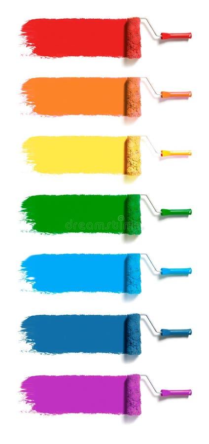 Color målar rullar vektor illustrationer