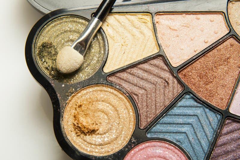 Color make-up palette stock image