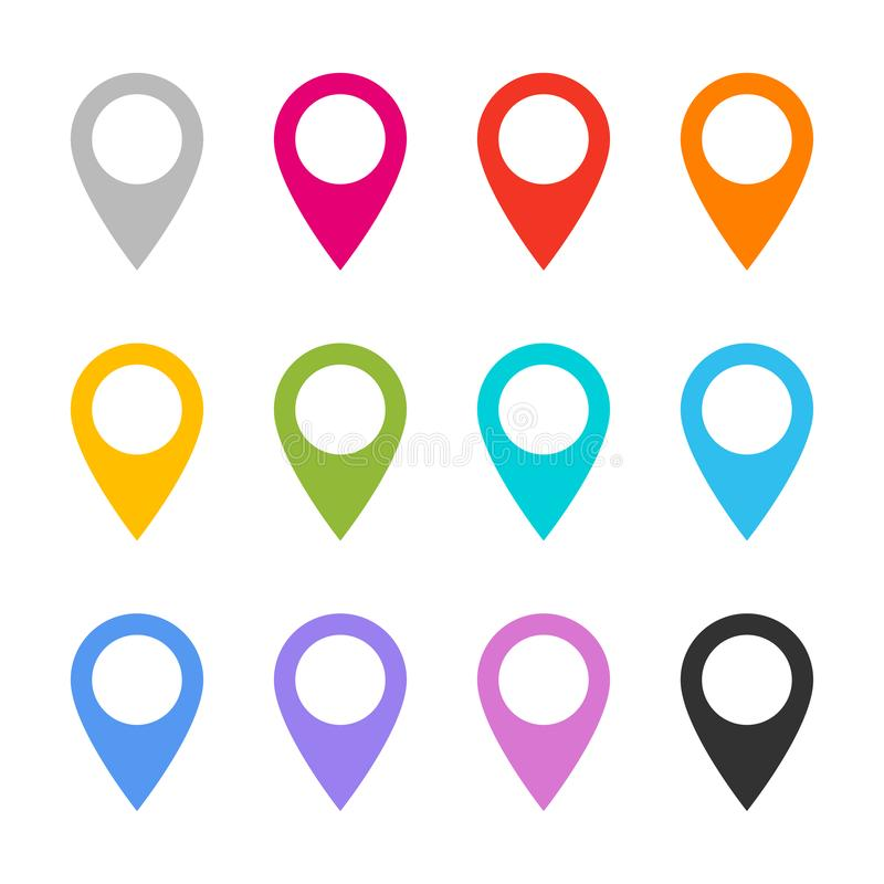 Color map pin vector icons stock images