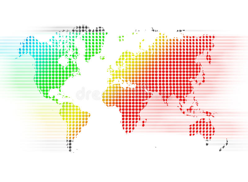 Download MAP color stock illustration. Image of steel, globe, south - 30214181