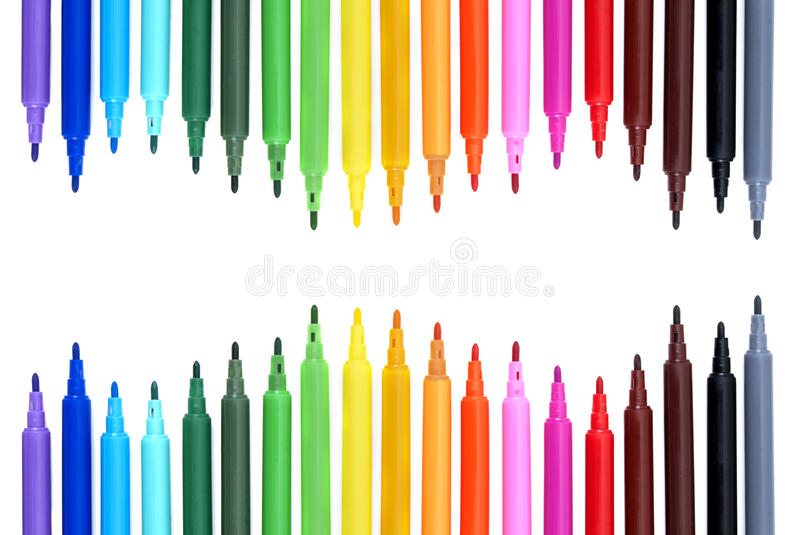 Download Color Markers stock photo. Image of yellow, blank, color - 21450198