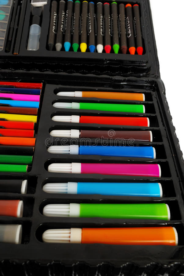 Color markers set. royalty free stock photos