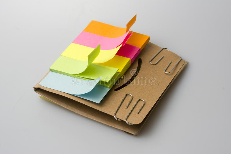 Color marking papers royalty free stock photography