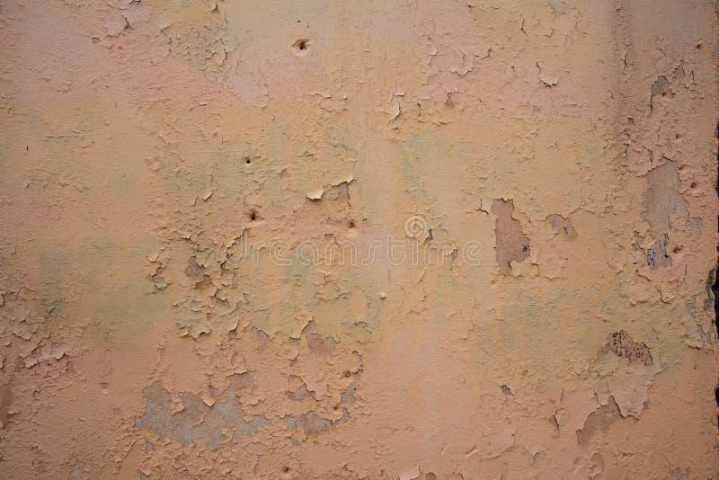 Color marrón claro, fondo pintado del grunge de la textura de la pared foto de archivo