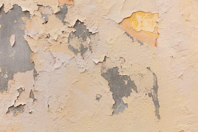 Color marrón claro, fondo pintado del grunge de la textura de la pared imágenes de archivo libres de regalías
