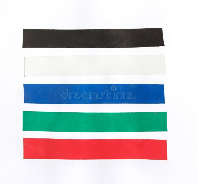 Color masking tape set on isolated stock photo