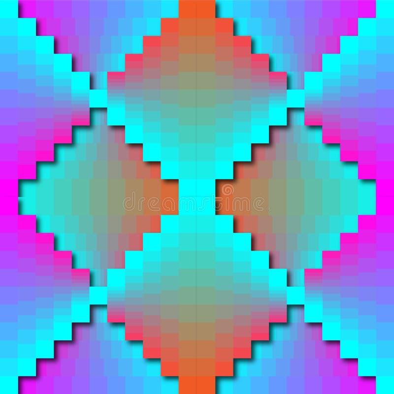 Color Matrix Zigzag Pattern royalty free illustration
