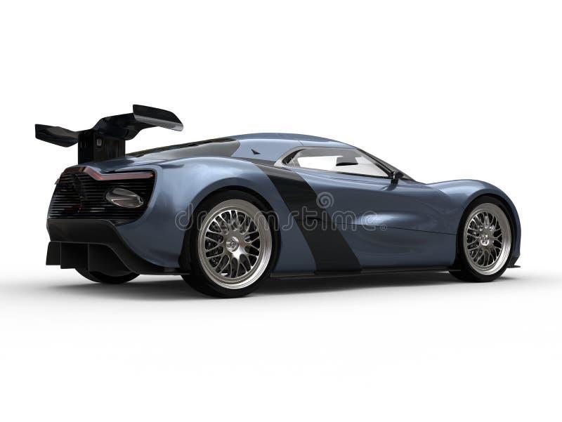 Color metálico azul de la sombra automotriz hermosa de los deportes ilustración del vector