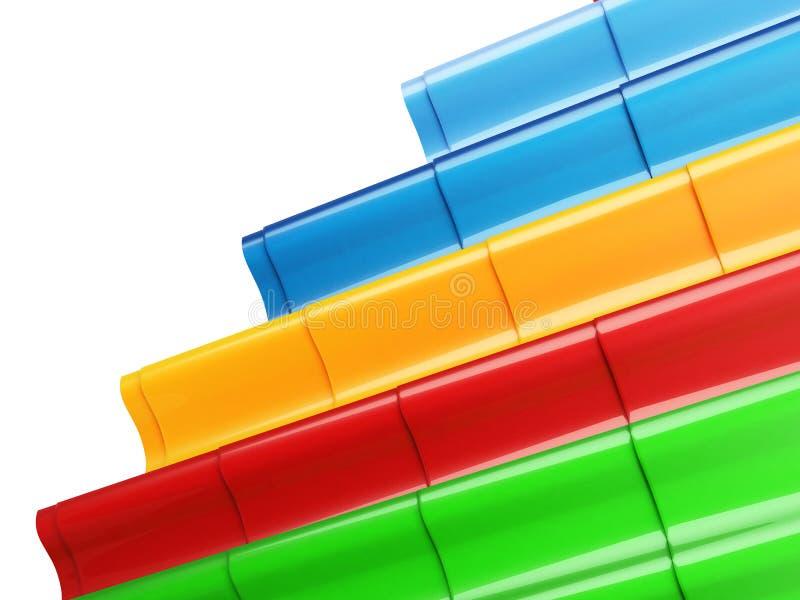 Download Color Metal Roof Tile stock illustration. Image of pattern - 38748925