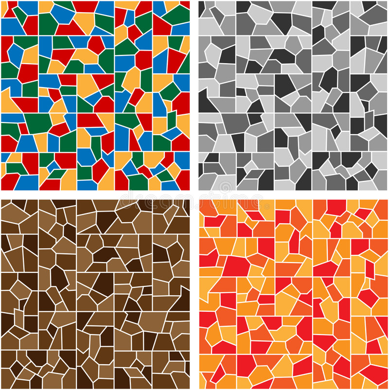Color mosaic. Colorful mosaic in hues of blue, yellow, red and green vector illustration