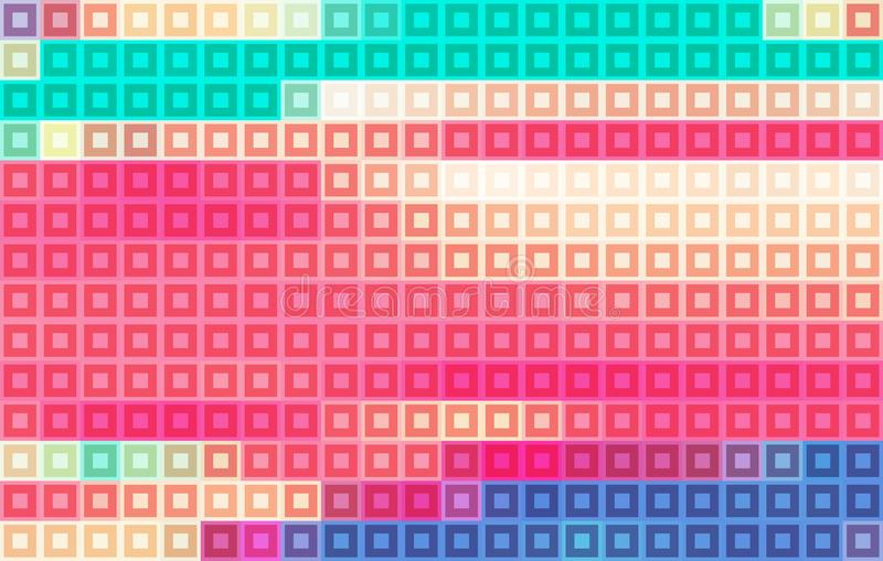 Color mosaic. Pixelated vector pattern royalty free illustration