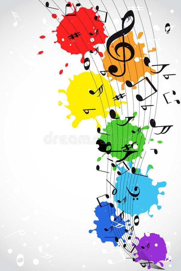 Color music background stock illustration