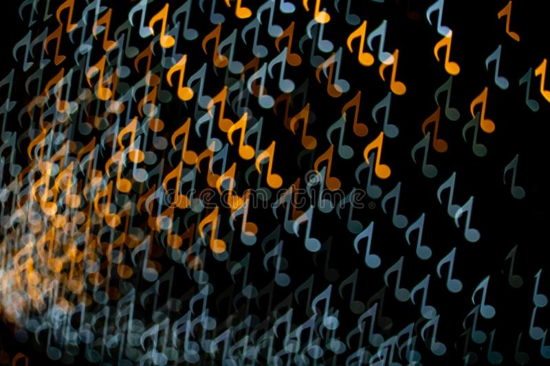 Color Music Note Shape Bokeh royalty free stock photography