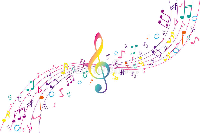 Color musical background stock illustration