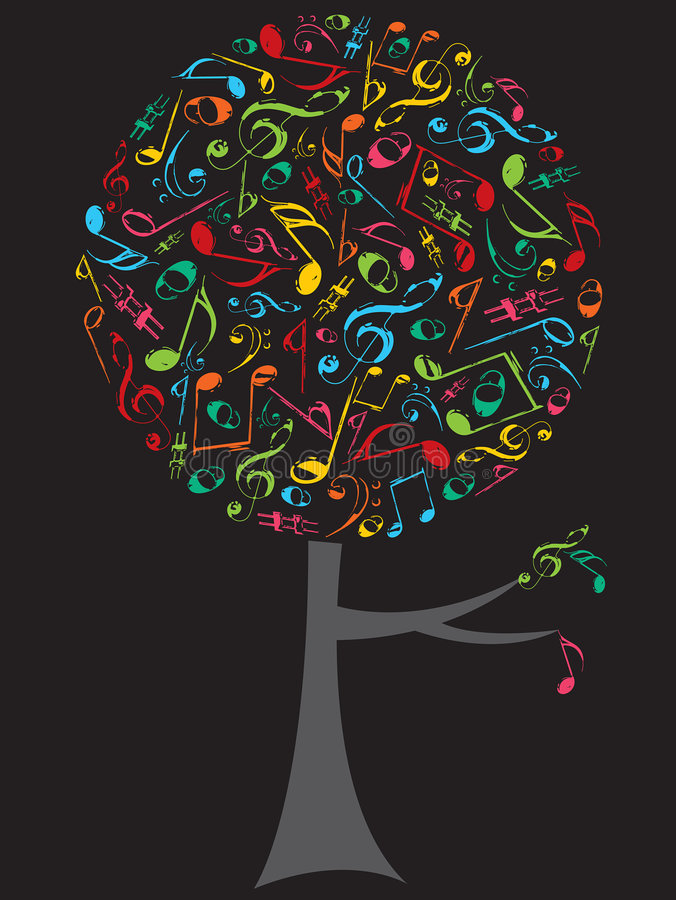 Download Color Musical Notes Pop Tree Royalty Free Stock Photo - Image: 3077665