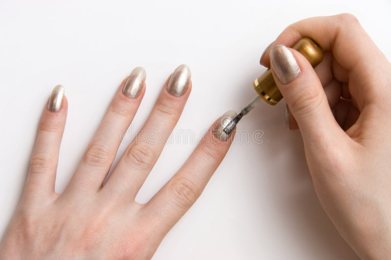 Color nails stock photography