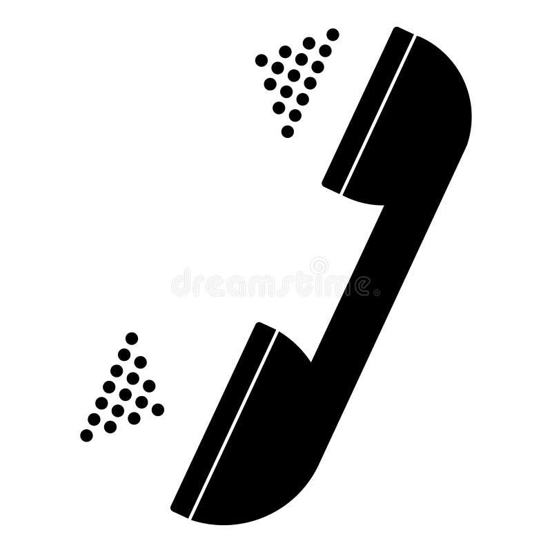 Color negro del microteléfono y gris determinado stock de ilustración