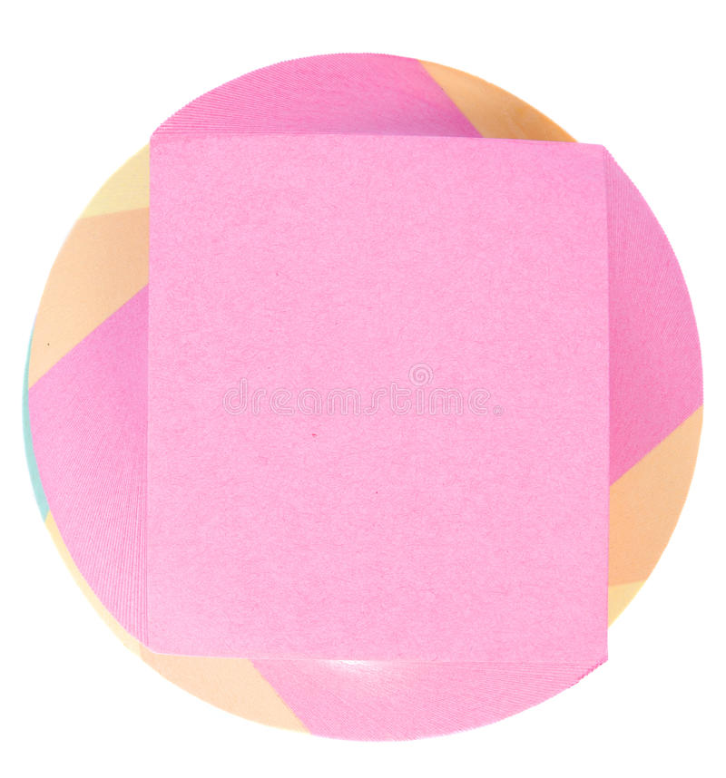Download Color note paper block stock image. Image of object, colorful - 10622933
