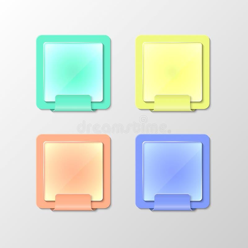 Color notebooks. Vector color notebooks or blackboards stock illustration