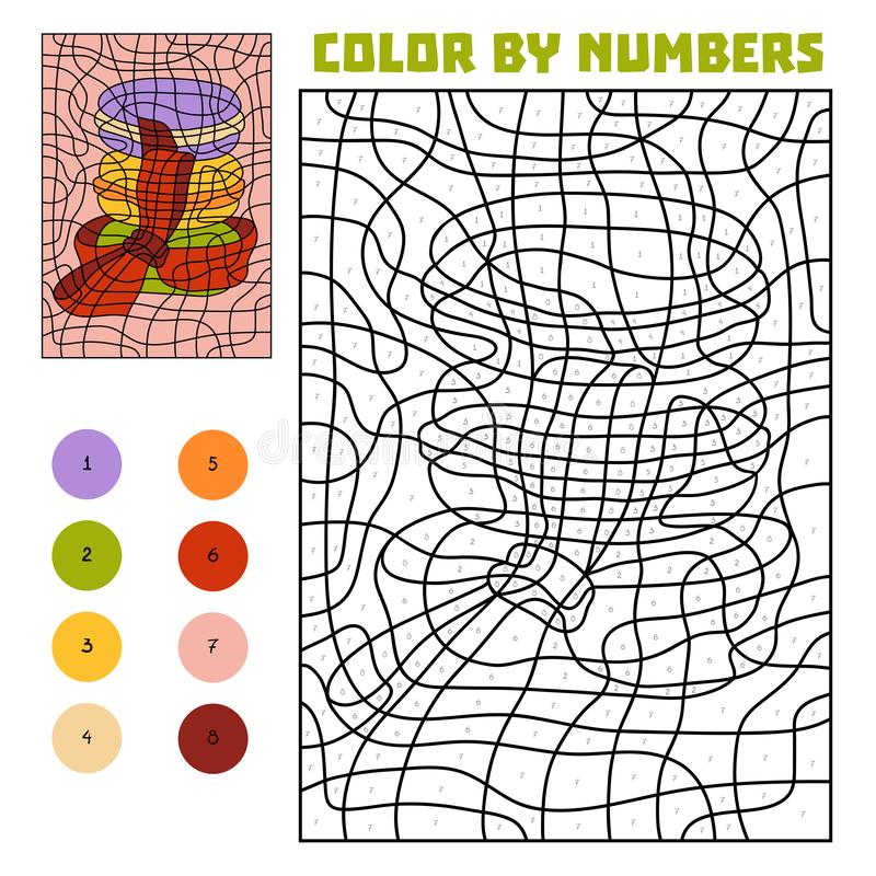 Color by number, Macaroons vector illustration