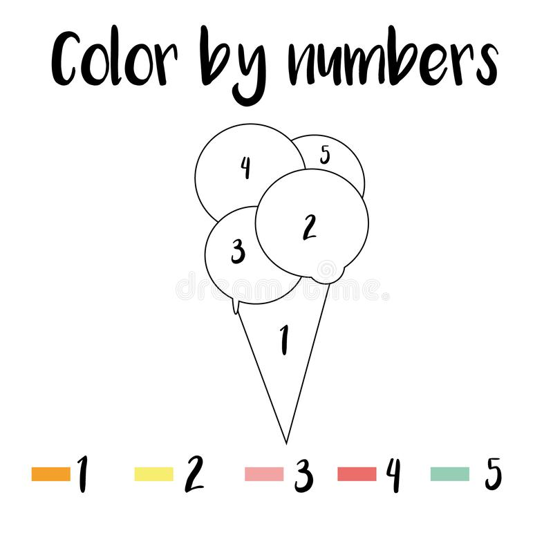 Coloring Page. Color By Numbers Educational Children Game, Drawing Kids  Activity, Printable Sheet. Animals Theme Stock Illustration - Illustration  Of Blank, Hobby: 170850981