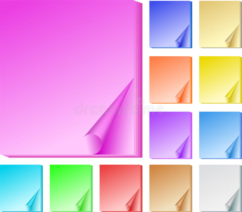 Color office papers royalty free stock image