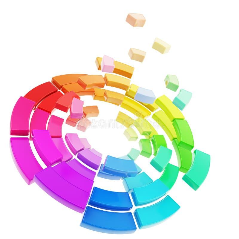 Color områdespectrumpaletten vektor illustrationer