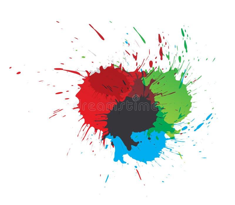 Download Color paint splashes stock vector. Illustration of shape - 14348787