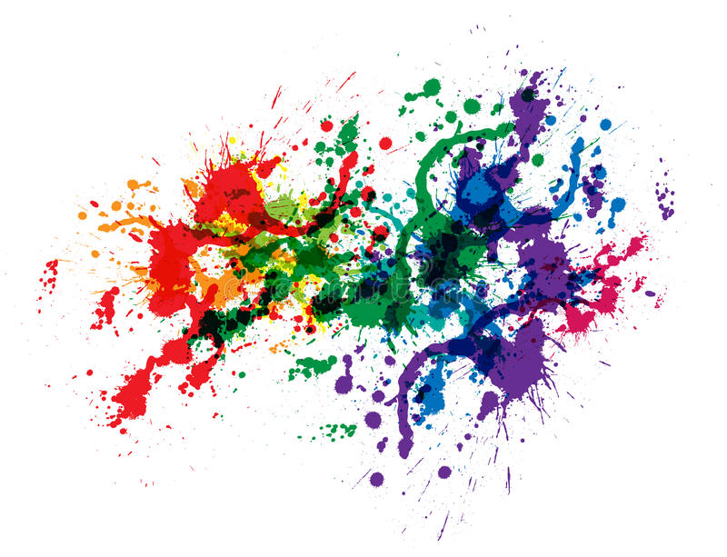 Download Color paint splashes stock vector. Image of letter, isolated - 24153524