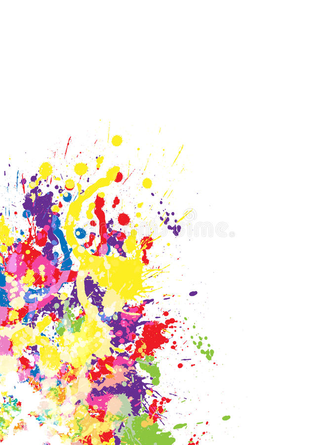 Download Color paint splashes stock vector. Image of copy, creative - 24153561