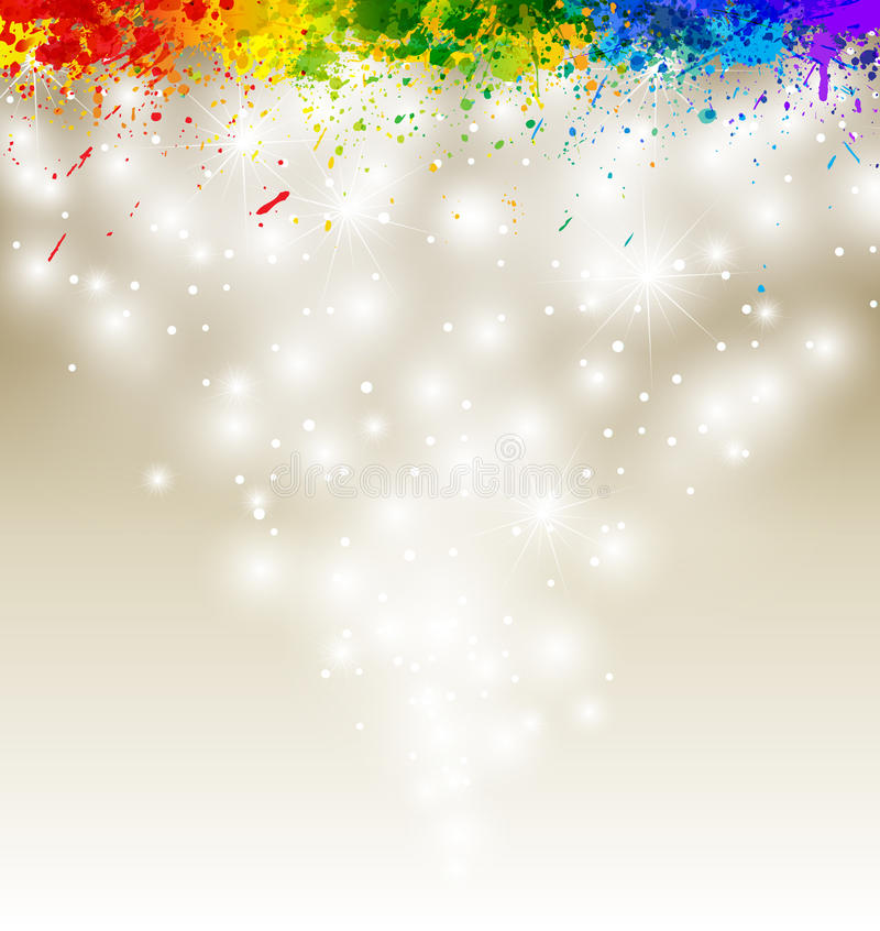 Color paint splashes artwork vector illustration