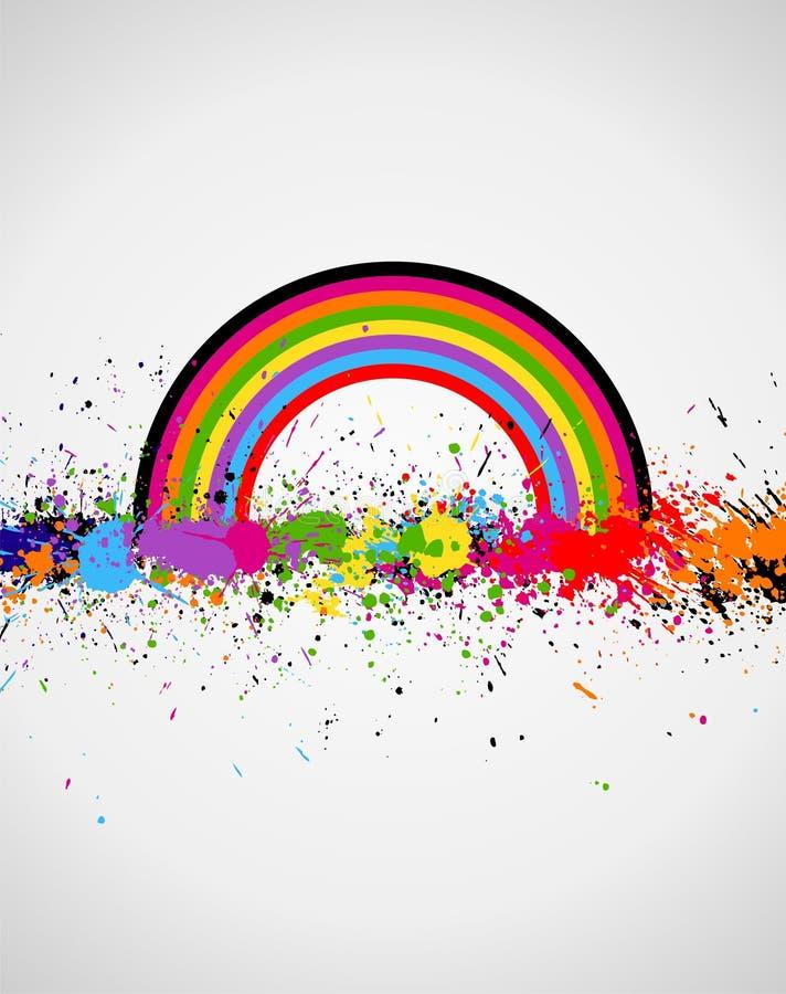 Color paint splashes background. Illustration of line color paint splashes on white background vector illustration