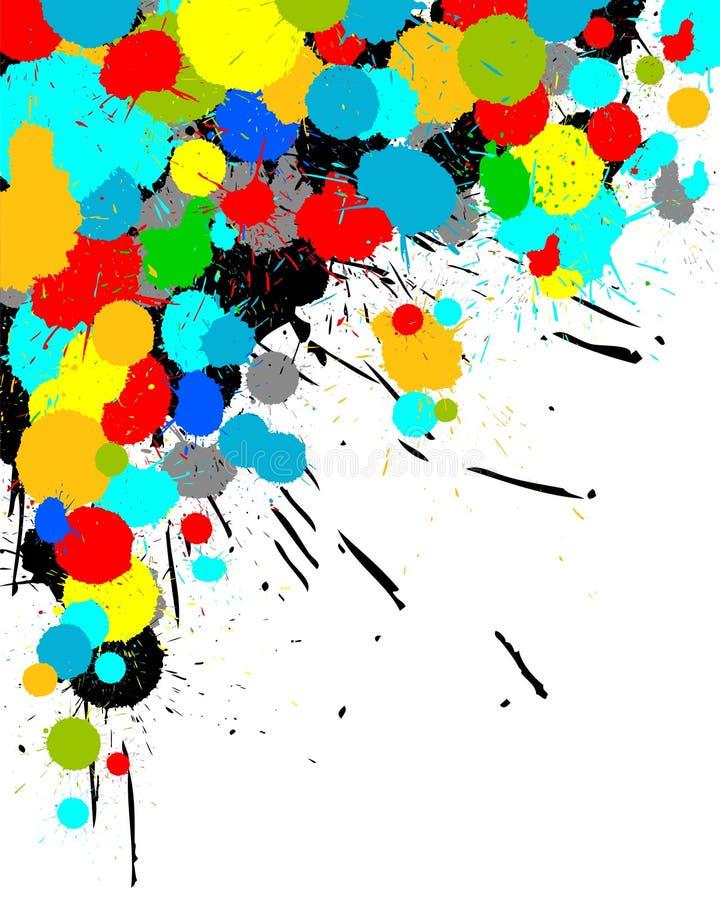 Color paint splashes background. Illustration of color paint splashes on white background vector illustration