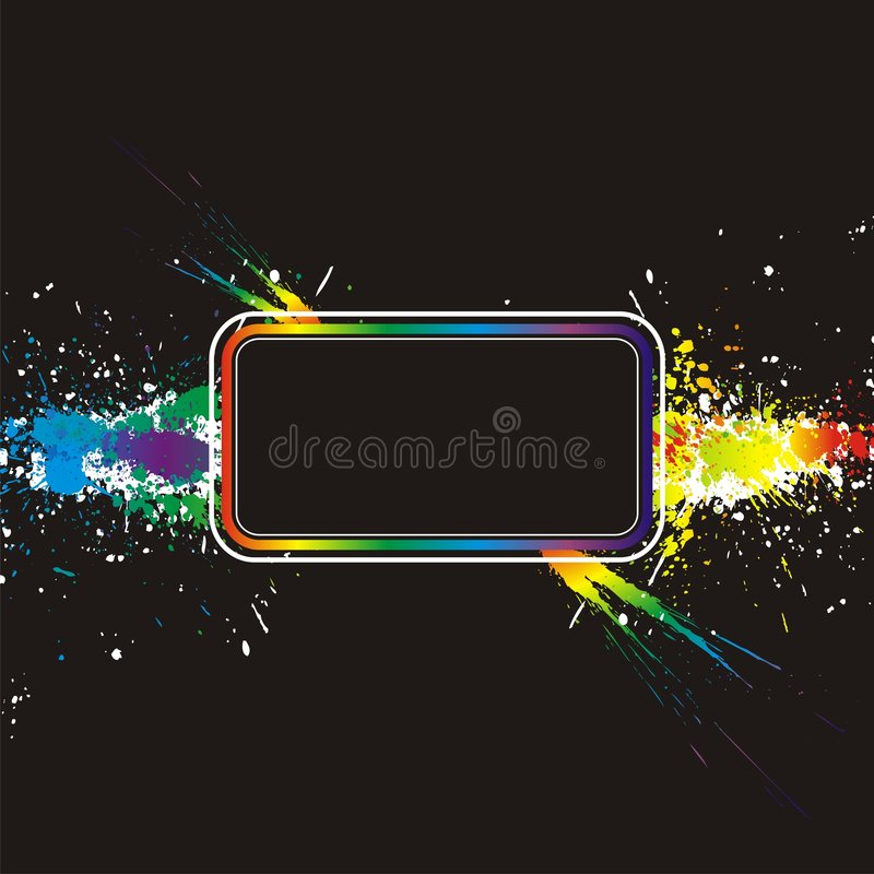 Color Paint Splashes Border. Vector Background Stock Images