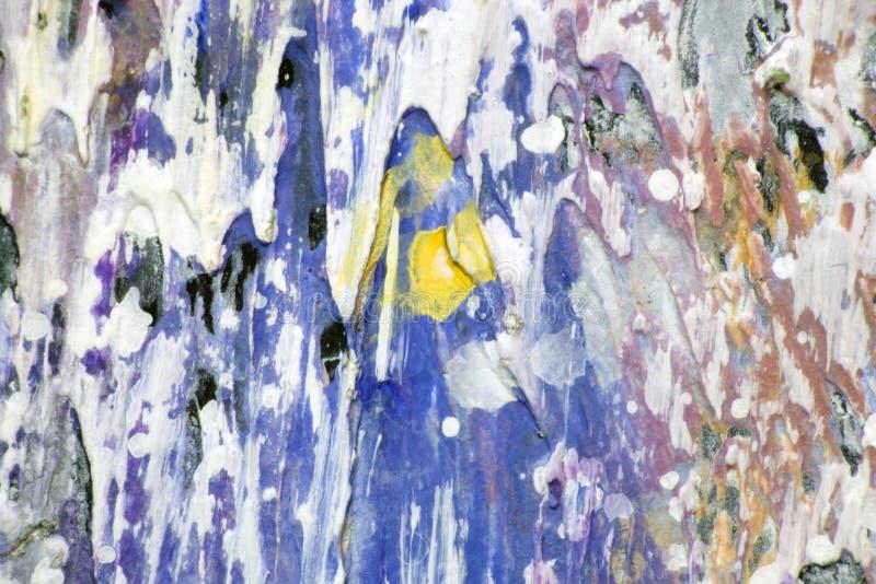 Color paint splashes stock image