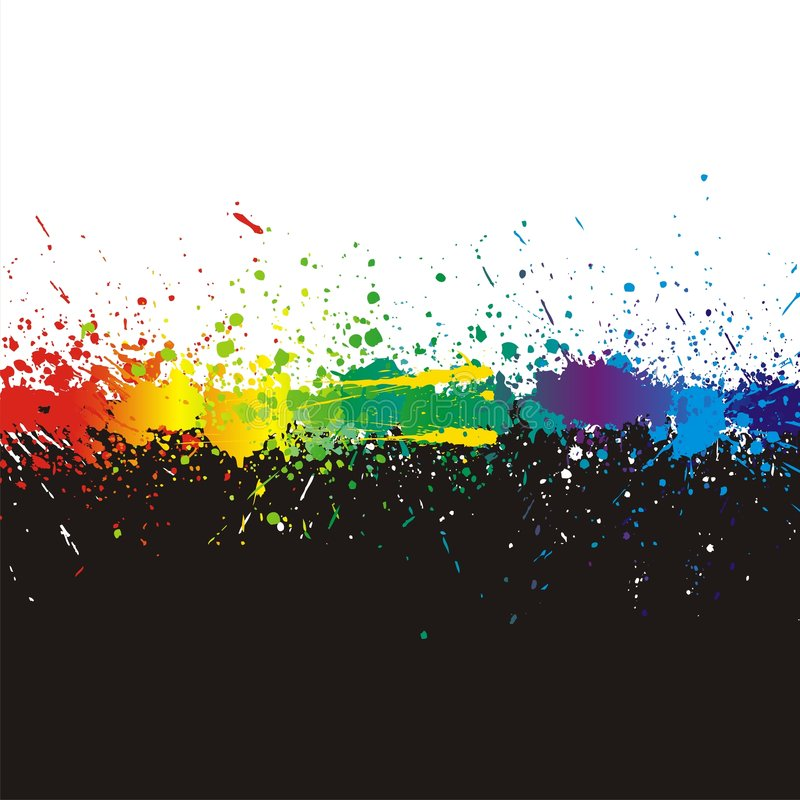 Free Color Paint Splashes. Gradient Vector Background Royalty Free Stock Photos - 8592998