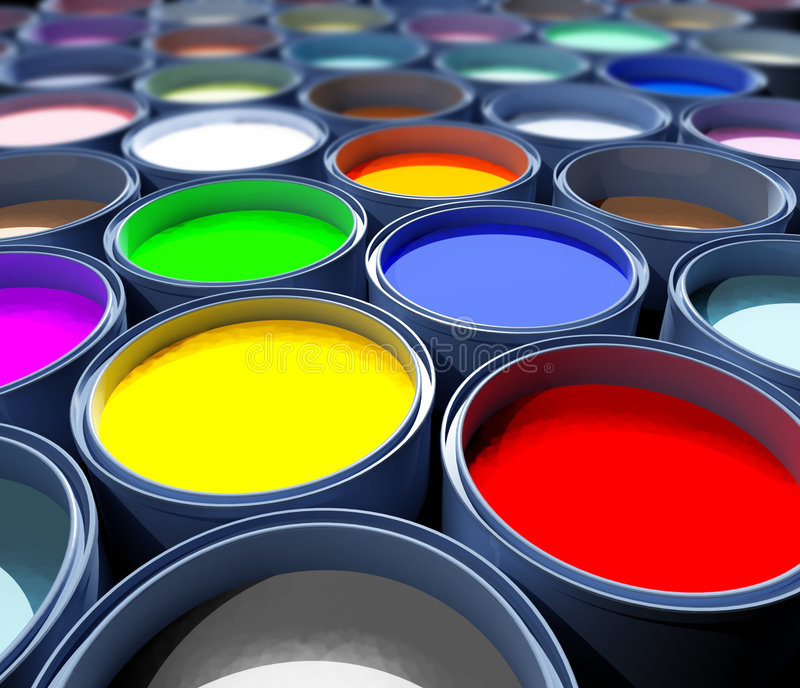 Color paint tank, abstract royalty free stock photos