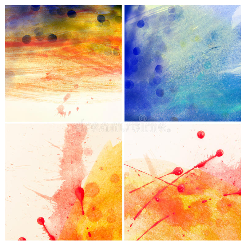 Download Color painted background stock illustration. Illustration of brush - 32064647