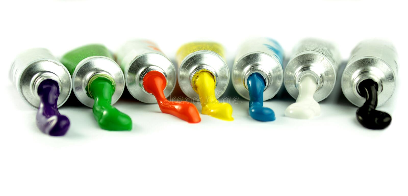 Color paints stock photography