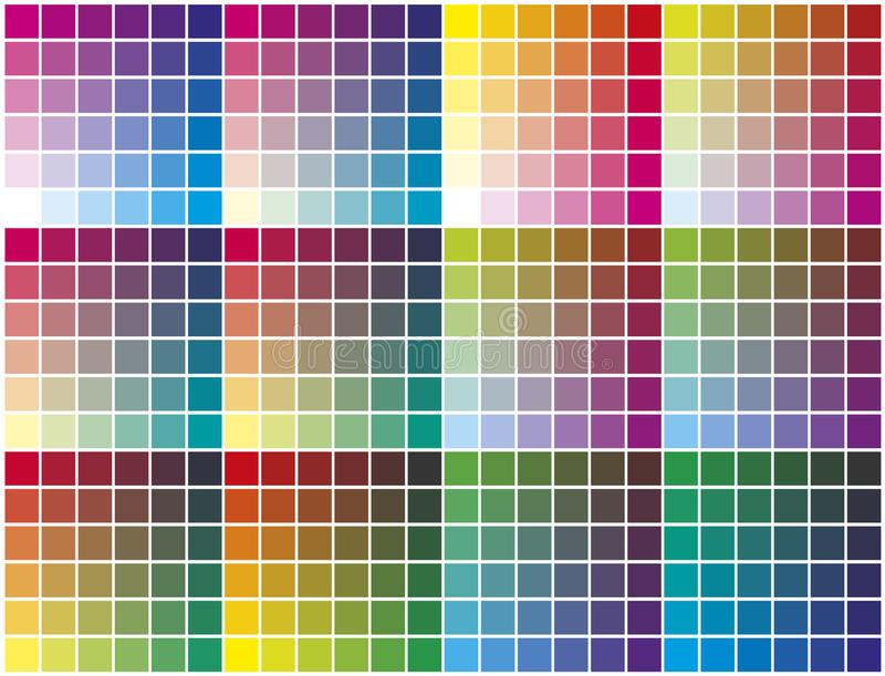 Color palette royalty free illustration