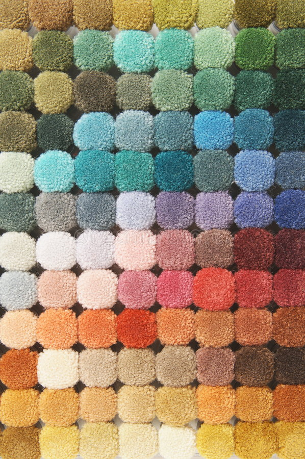 Color palette. Of carpet materials royalty free stock photography