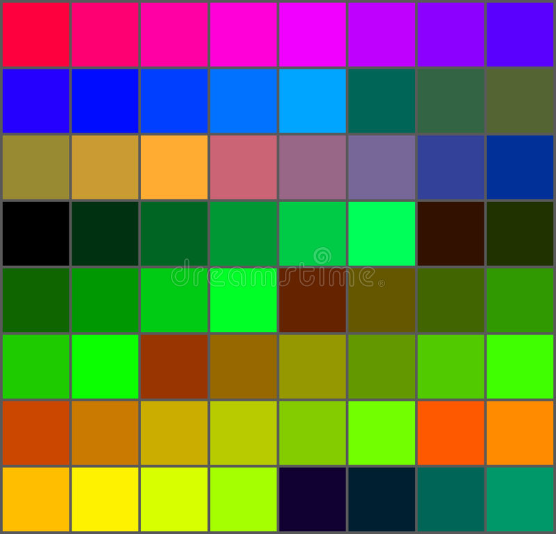 Color Palette Royalty Free Stock Images