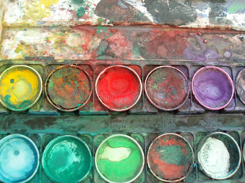 Color palette box royalty free stock photography