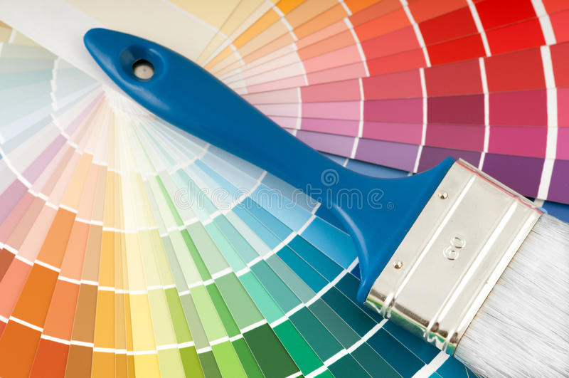 Download Color palette and brush stock image. Image of painter - 15293589