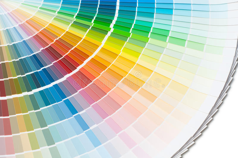 Color palette, color guide, paint samples, color catalog.  royalty free stock photo