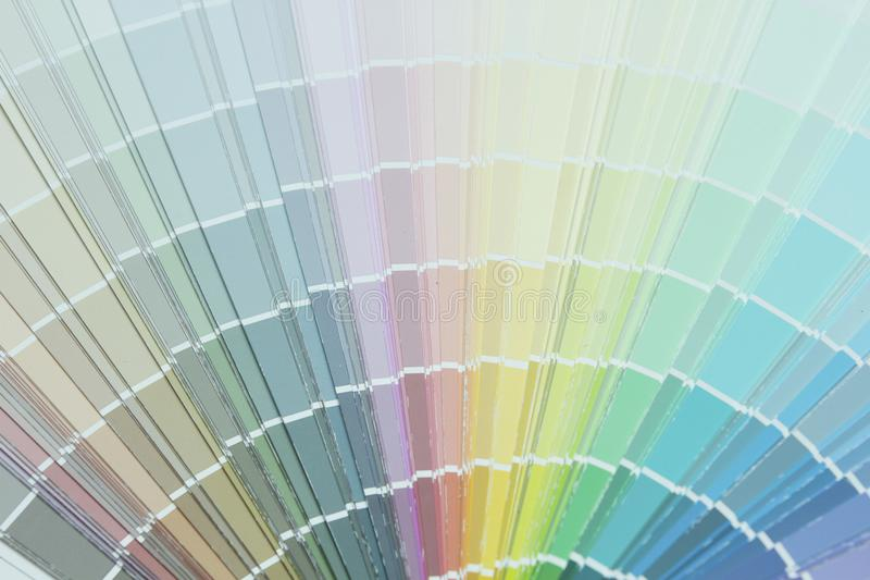 Color palette guide or color samples. Close up image of color palette guide or color samples royalty free stock photos
