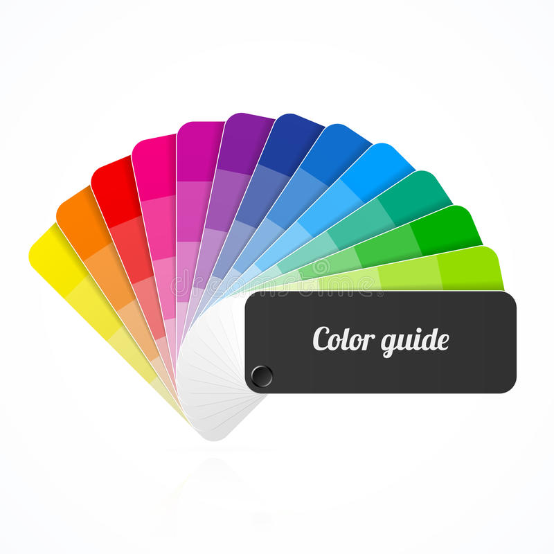 Color palette guide, fan, catalog royalty free illustration
